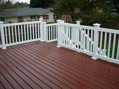 dark deck white railing