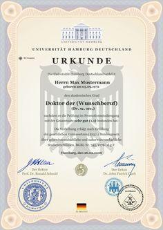 ✙ DOKTORTITEL KAUFEN Dr. PROFESSOR DIPLOM URKUNDE Doktor Ingenieurwissenschaften