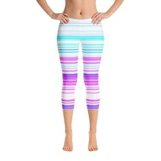 Capris & Crops – For Her Fitness Cute Workout Outfits, Workout Wear, Workout Tops, Capri Leggings, Women's Leggings, Slimming Patch, Fitness Wear Women, Spandex Material, Polyester Spandex