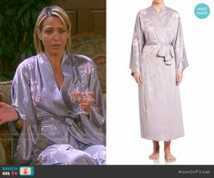 Nicole's floral embroidered robe on Days of our Lives.  Outfit Details: https://wornontv.net/57597/ #DaysofourLives  Buy it at Saks Fifth Avenue: http://wornon.tv/36047