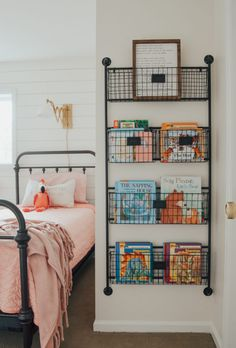 Kid's bedroom ideas with shiplap wal… Cottage Style Kids' Bedroom Reveal! Kid's bedroom ideas with shiplap wall and farmhouse style decor. Girls Bedroom, Bedroom Ideas For Teen Girls, Diy Bedroom, Design Bedroom, Modern Bedroom, Contemporary Bedroom, Wood Bedroom, Bedroom Themes, Girl Rooms