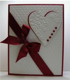 Valentine by Reddyisco - Cards and Paper Crafts at Splitcoaststampers Wedding Cards Handmade, Greeting Cards Handmade, Valentine Love Cards, Bridal Shower Cards, Engagement Cards, Embossed Cards, Embossed Paper, Wedding Anniversary Cards, Creative Cards