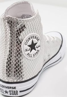 3df9c40a626c CHUCK TAYLOR ALL STAR METALLIC SNAKE LEATHER - Sneaker high -  silver black white   Zalando.de 🛒. Converse ...