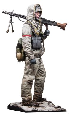The latest figure release from Andrea Miniatures is from the cold and deep expanse of the Russian front in 1944. This MG 42 gunner is ...