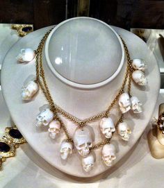 Coral carved skull necklace found in NOLA.  It is AWESOME!