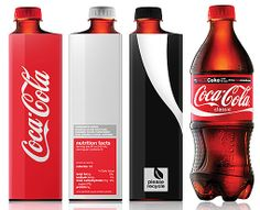 """Eco-friendly design is still a big trend. Coca-Cola is going green for 2013 with a re-designed bottle. The square shape is meant to maximize the amount of soda that can be shipped at one time. The """"plastic"""" material is actually recycled sugar cane byproducts; a perfect fit for the liquid inside!"""