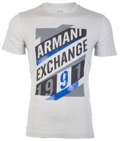ARMANI EXCHANGE Mens T-Shirt A-16 Slim LIGHT GREY Designer $45 Jeans NWT