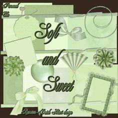With a Russian/Dutch heart: soft and sweet. Colección de papeles y elementos en color verde.