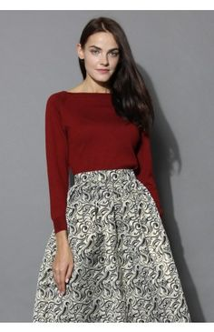 Cotton Candy Knit Top in Wine - Tops - Retro, Indie and Unique Fashion