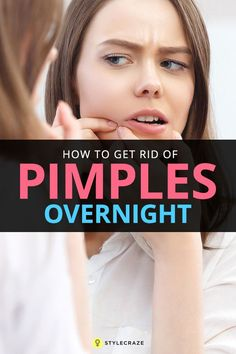 How to get rid of pimples in a minute