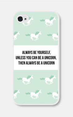 Menthe vert Licorne iPhone cas toujours être vous-même sauf si vous pouvez être A Unicorn iPhone 4 cas Licorne iPhone 5c affaire Licorne iPhone 5 cas  €16,57 EUR