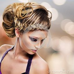 Portrait of beautiful woman with  hairstyle by Valua Vitaly, via Dreamstime