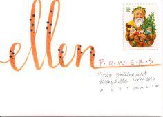 pushing the envelopes: ellen - series of 15 Mail Art