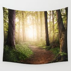 Forest Path wall tapestry by Tjc555