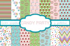 candy party paper printables
