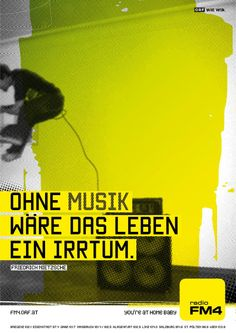 Without music, life would be a mistake. Salzburg, Radios, Music Life, Illustrations And Posters, Projects To Try, Movies, Movie Posters, Art, Linz