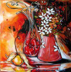 Daniel Vincent, Flower Artwork, Acrylic Flowers, Z Arts, Kitchen Art, Vintage Posters, Art Boards, Whimsical, Abstract Art