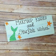 Pirate Sign Mermaid Sign Drinking Sign Drink by ThePeculiarPelican Tiki Bar Signs, Pool Signs, Drink Signs, Beach Signs, Wooden Signs With Quotes, Southern Signs, Pirate Signs, Mermaid Sign, Mermaid Kisses