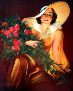 Vintage pin up girls prints, glamour girls, sexy women vintage prints Vintage Images, Vintage Posters, Vintage Art, Vintage Ladies, Art Deco Print, Art Prints, Dirty Dancing, Pin Up Art, Print Pictures