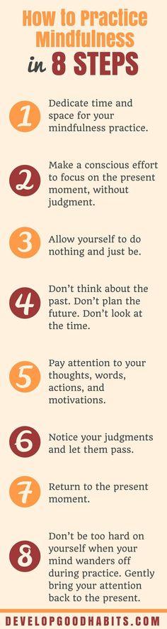 practicing mindfulness | Steps for Mindful Living