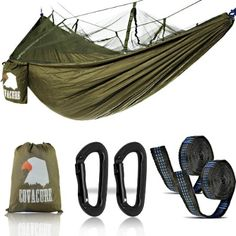 Gonex Portable Adult Camping Hammock Lightweight Quick-drying Nylon Parachute Hammock For Backpacking Travel Beach Backyard Aromatic Flavor Outdoor Furniture