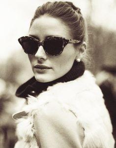 Cat eye sunnies on Olivia Palermo.