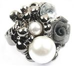 Rose Pearl Fashion Ring  Be Inspired! Sign up & Shop prettyinpynk.com