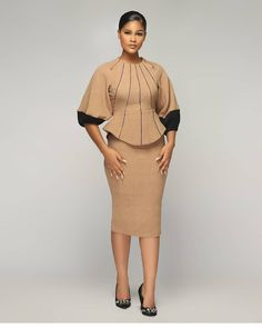 Corporate Dresses, Corporate Chic, Corporate Fashion, African Wear Dresses, African Attire, Church Dresses, Dresses For Work, English Fashion, 2 Piece Outfits