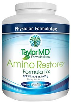 AminoRestore  Vanilla Flavor  Amino Acid Formula Rx  Essential Workout Weight Loss Supplement  Provides Nutrients Vitamins Minerals  Optimise Metabolism Energy Body Composition  Gut Health  Suitable for Vegetarians  Dairy Free  Guaranteed By Taylor MD Formulations ** Check out this great product.Note:It is affiliate link to Amazon.