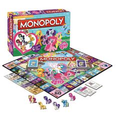 My Little Pony Monopoly!!! Dibs on rainbow dash, also, GIVE IT TO ME!