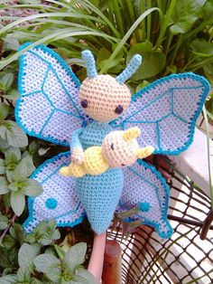 Butterfly Bree doll made by Mamu - crochet pattern by Zabbez