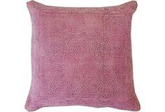 Art 20x20 Cotton Pillow, Purple