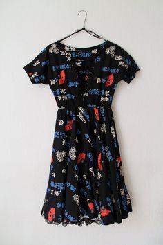 Vintage Dress 1980s Party Dress with von PaperdollVintageShop, €29.90