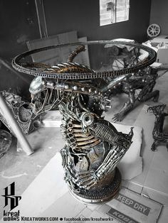 Metal Monster Table Include A Glass Tabletop Door Kreatworks Part 51