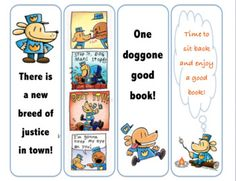Free Printable Bookmarks, Bookmarks Kids, Reading Projects, Book Projects, Dog Man Book, Dr Seuss Coloring Pages, Man Crafts, Man Birthday, Birthday Ideas
