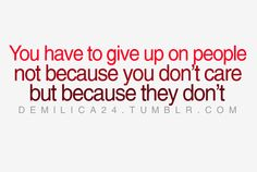 The only time you should give up