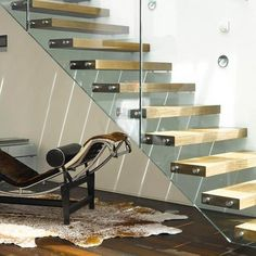 Frameless Glass Stair Railing - Almost as amazing as floating stairs!