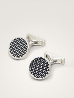 BUTONI CU MOTIV GEOMETRIC - Bărbați - Massimo Dutti Cufflinks, Geometry, Wedding Cufflinks