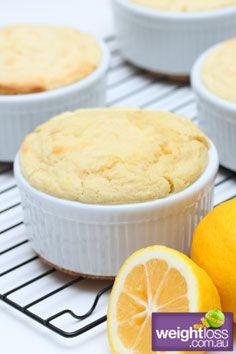 Healthy Dessert Recipes: Lemon Sponge Pudding. #HealthyRecipes #DietRecipes #WeightlossRecipes weightloss.com.au