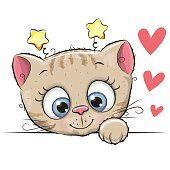 Filhote de gato bonito dos desenhos