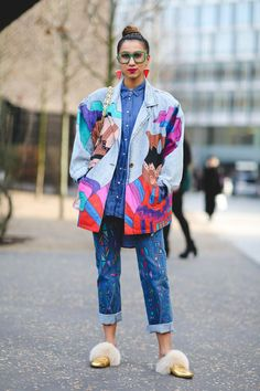 The Best Street Style At London Fashion Week Autumn Winter - Fall-Winter 2017 - 2018 Street Style Fashion Looks Best Street Style, Street Style Outfits, Street Style Trends, Cool Street Fashion, Mode Outfits, Look Fashion, Korean Fashion, Winter Fashion, Fashion Outfits