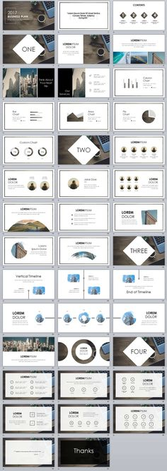 40+ White Business plan PowerPoint Template