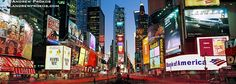 Panoramic View of Times Square at Dusk II - http://andrewprokos.com/photos/new-york/