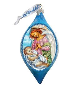 Look what I found on #zulily! Angelic Touch Hand-Blown Glass Teardrop Ornament…