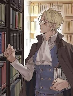 One Piece, Sabo. Library, looking hot. xP