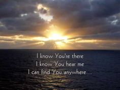 I KNOW YOU'RE THERE   Casting Crowns