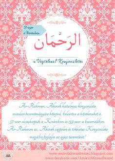 Allah neveinek és tulajdonságainak magyarázata