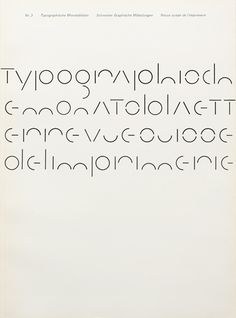 Cover from 1964 issue of Typographische Monatsblätter. Typefaces - Lettering, Univers. André Gürtler. (Typography, Design)