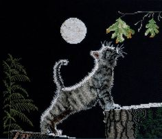 "Max's Moon Counted Cross Stitch Kit-12""X9-1/4"" 14 Count, , hi-res"
