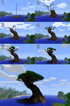 Pix For > Minecraft Giant Tree City